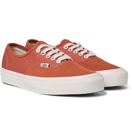 Vans Og Authentic Lx Suede And Canvas Sneakers Tomato Red mEiSnzi4R
