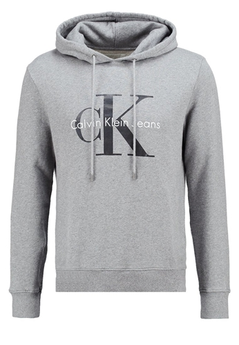 calvin klein jeans hoodie light grey heather mottled nuji. Black Bedroom Furniture Sets. Home Design Ideas