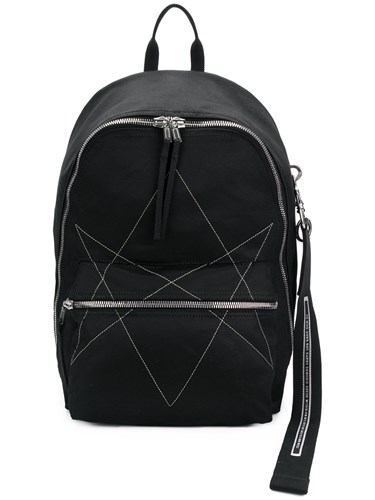 Rick Owens Drkshdw Stitched Backpack Black NV4r544S