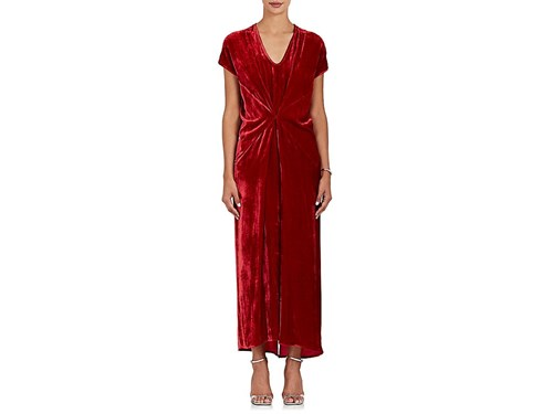 Zero Maria Cornejo Sana Gathered Velvet Maxi Dress zqYPR