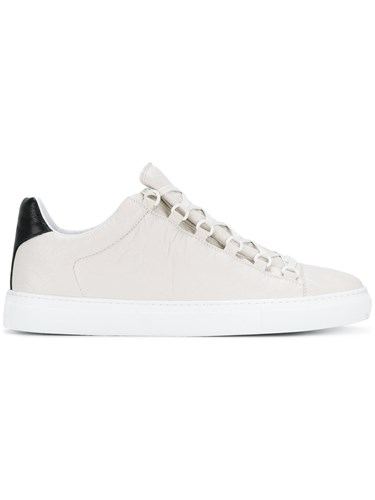 Nude Sneakers Leather Neutrals Low Rubber Balenciaga Classic w0Z1RxqFRX