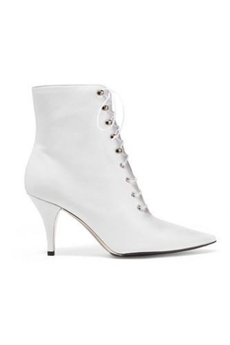 Calvin Klein 205W39nyc Rosemarie Lace Up Leather Ankle Boots White Gbp wPJAL1Dfue