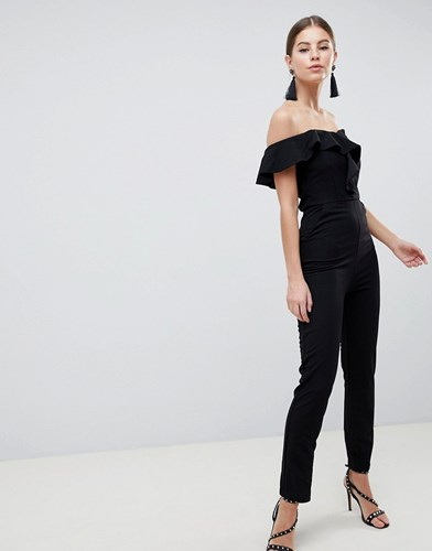 Bardot Tailored Jumpsuit Black
