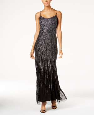 Adrianna Papell Beaded Gown Black 06tzBDSro