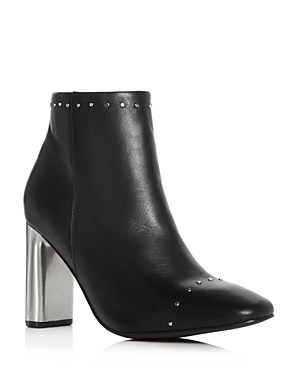 Sol Sana Women's Alicia Leather Embellished Booties Black ISJn7ysaC