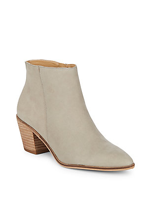Lucky Brand Linnea Leather Booties Beige tFhAky4