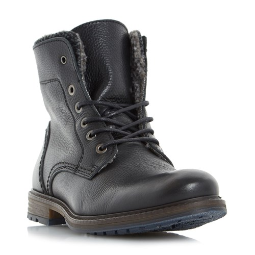 Dune Chichester Double Collar Casual Boots Black JDmFn