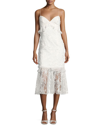 Sachin + Babi Milan Sleeveless Lace Fit And Flare Cocktail Dress Ivory Pf21rRW66L