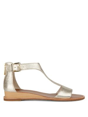 Kenneth Cole Judd Leather Ankle Strap Sandals Soft Gold Eq6ogVhfg