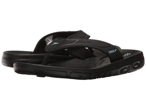 Speedo On Deck Flip Black Black Women's Sandals EpjufG8R3