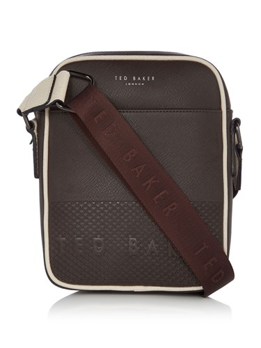 Embossed Crossbody Baker Mini Chocolate Bag Ted Aight Ew1qqS