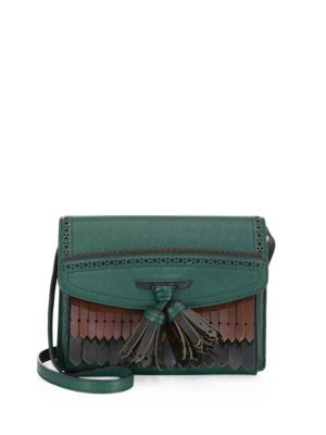 Burberry Macken Small Fringe Bag Sea Green DKgsfXPwc