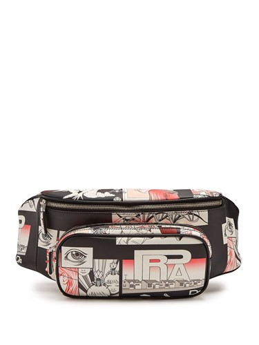 Prada Comic Strip Print Leather Belt Bag Black Multi oMXVXpJ