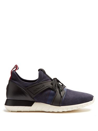 Moncler Emilien Low Top Suede Trainers Navy Multi 5KmaMFn