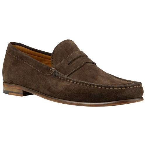 John Lewis Lloyd Suede Penny Loafers Chocolate A6tGa2HaC