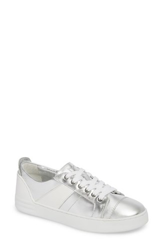 Leather Sneaker White Silver Candi Fisher 'S Marc Ltd qRZnf