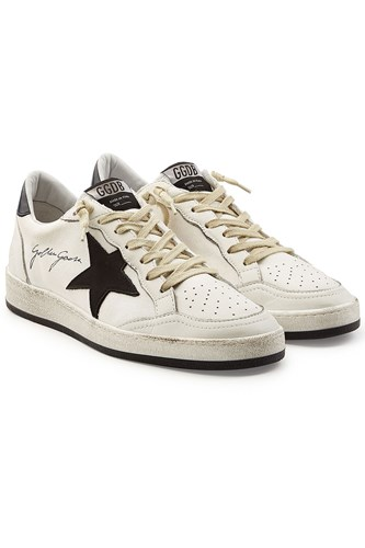 Golden Goose Deluxe Brand Ball Star Sneakers With Leather White bpGdl2gx8