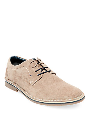 Steve Madden Hatrick Casual Suede Derby Shoes Tan 4ljT5