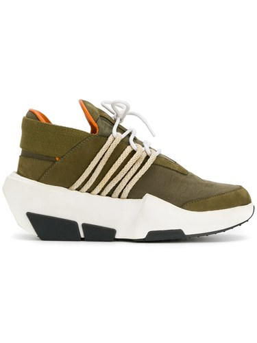 The Shoe Surgeon Y3 Mira Sneakers Leather Nubuck Leather Canvas Rubber Green nTBaIchxDb