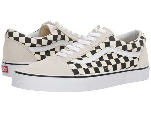 Vans Old Skooltm Checkerboard White Black Skate Shoes L3RuT6
