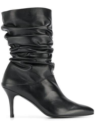Crush Gathered Bottines Stuart Noir Weitzman U5qxvOA