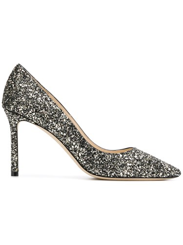 Jimmy Choo Romy 85 Glitter Pumps Black CAlxxhKOxh