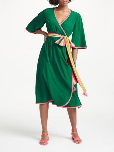 Boden Cornelia Wrap Dress Sap Green 4v7B4