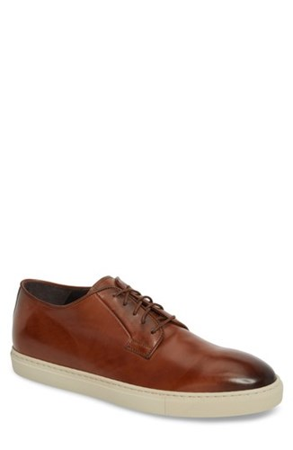 To Boot New York Plain Toe Derby Sneaker Diver Tan Leather emDg3
