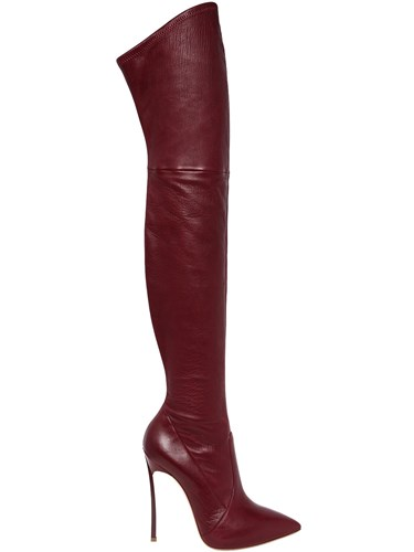 Casadei 120Mm Blade Stretch Leather Boots YPqwe