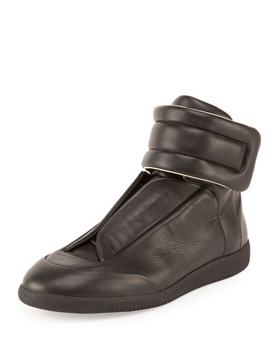Maison Top Margiela High Martin Basic Black Future Leather Sneaker rz4wrxnCq