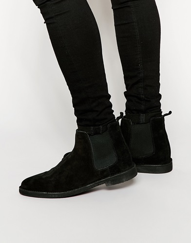 Asos Chelsea Desert Boots In Black Suede Oa3OF