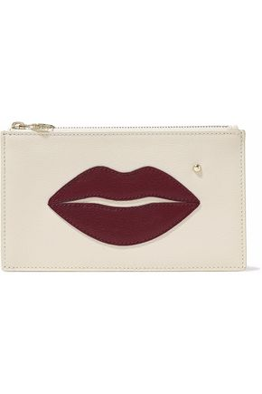 Charlotte Olympia Embellished Textured Leather Pouch Off White Off White cmpc12