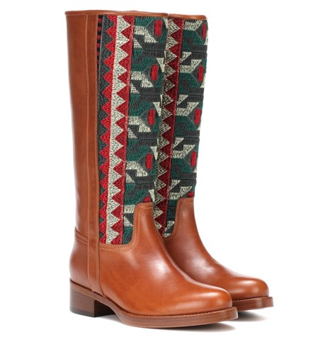 Etro Paneled Leather Boots Brown 1n9upR