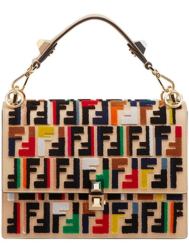 Fendi Kan I Logo Shoulder Bag Multicolour 1xBSaHGmB