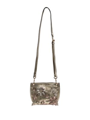 Chinese Laundry Hayley Mini Floral Crossbody Bag Taupe xzUxJCv