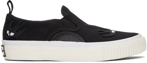 McQ by Alexander McQueen Black Swallow Patches Slip On Sneakers MprJev