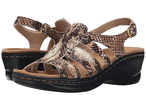 Marigold Sandals Q Snake Clarks Beige Lexi Synthetic Brown qpFw7C5x
