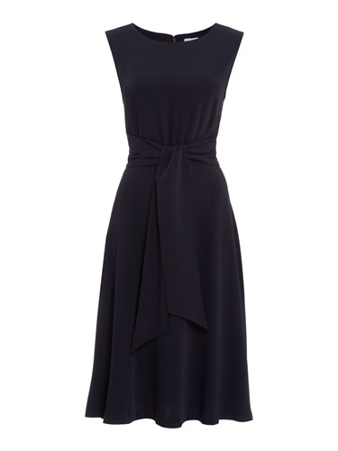 Tie Dress Pasty Linea Front Navy n5vYHqHOw