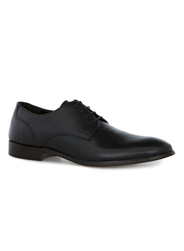 Topman Black Leather Throne Derby Shoes rHqRoCH