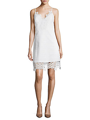 Laundry by Shelli Segal Laced Cami Dress Optic White GvDFmb9n1z