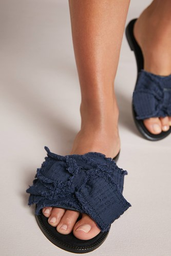 Kelsi Dagger Brooklyn Revere Slide Sandals Blue YpJPZ