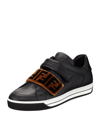 Fendi Signature Grip Strap Low Top Sneaker Black YI3Hv0k6sk