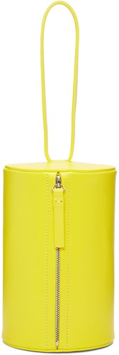Building Block Yellow Cylinder Wristlet Pouch QNKvYhvy