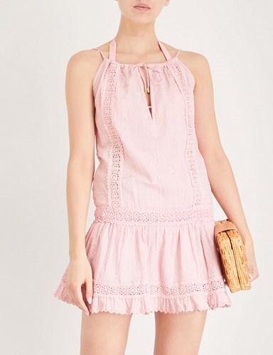 Melissa Odabash Chelsea Cotton Embroidered Dress Rose gW3OS