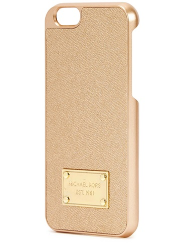 Michael kors gold leather and acetate iphone 6 case nuji for Housse iphone 6 michael kors