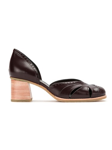 Sarah Chofakian Panelled Pumps Goat Skin Red xdxE6