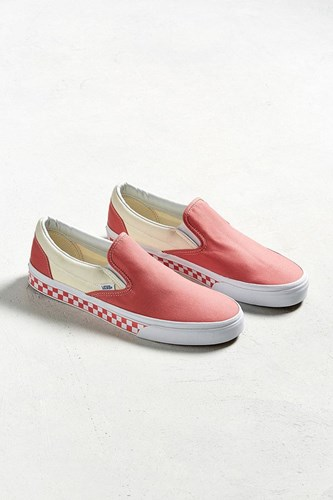 Vans Slip On Checkerboard Sidewall Sneaker Berry DhEi20ljX