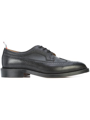Classic 10 5 Black Brogues Wingtip Browne Long Thom Leather UT4nq