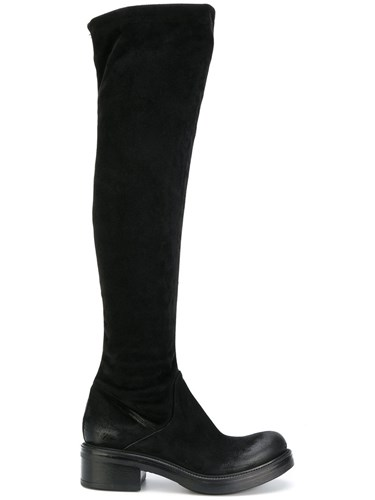 Strategia High Chunky Boots Leather Suede Rubber Black CX9epWlv