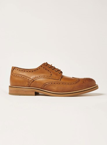 Topman Brown Tan Leather Royal Brogue Shoes IMxVvSV8N